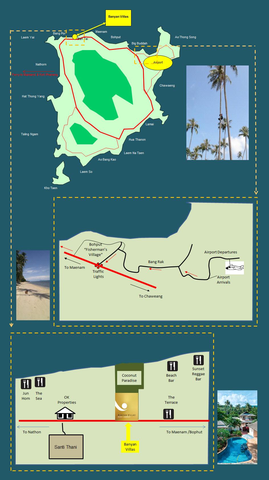 Banyan Villa Map